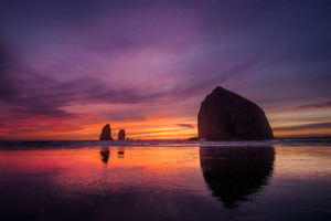 1280x800 Cannon Beach Sunset