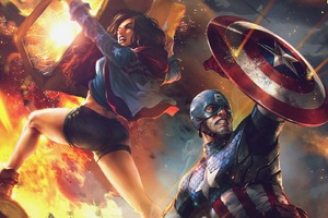 Captain America And America Chavez Evo 2