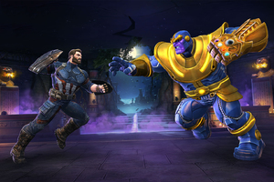 Captain America And Thanos In Marvel Contest Of Champions