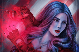Captain America Civil War Scarlet Witch Art