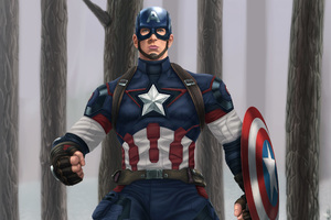 Captain America Digital Artwork
