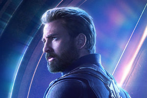 Captain America In Avengers Infinity War New Poster Wallpaper