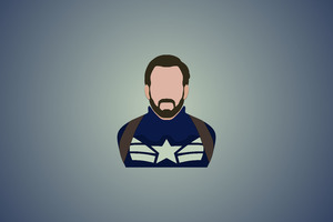 Captain America Minimalism 12k Wallpaper