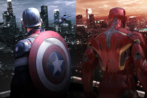Captain America Shield And Iron Man Wallpaper