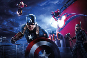 Captain America Thor Iron Man Spiderman Disneyland Paris Marvel Disney Cruise Wallpaper