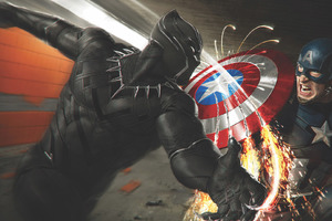Captain America Vs Black Panther Wallpaper