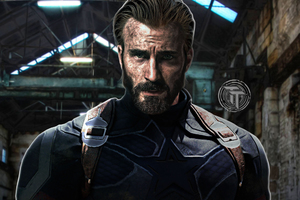 Captain America With Beard In Avengers Infinity War 2018