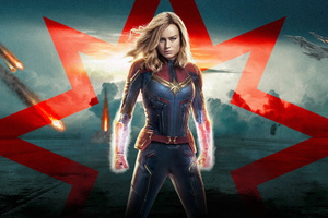 Captain Marvel 5k 2019 Poster Wallpaper