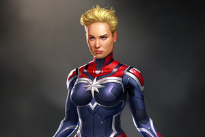 Captain Marvel Digital Art Wallpaper