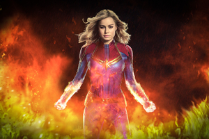 Captain Marvel Movie 2019 4k Art Wallpaper