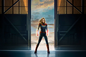 Captain Marvel Movie 2019 Offical Poster Wallpaper