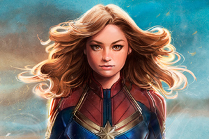 Captain Marvel New Artwork Wallpaper