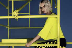 Cara Delevingne PUMA Muse Cut Out 2018 Photoshoot
