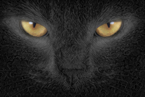 Cat Abstract Art Background