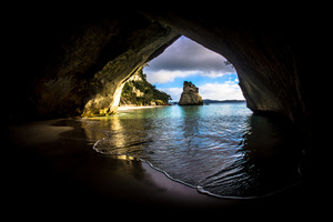 Cave On The Ocean Wallpaper
