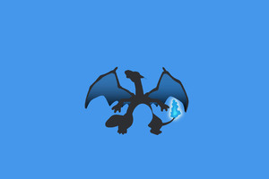 Charizard Minimalism Wallpaper