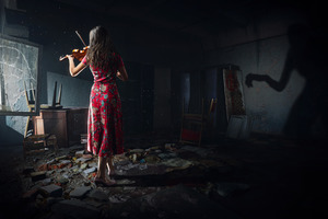Chernobylite Violin Girl Wallpaper