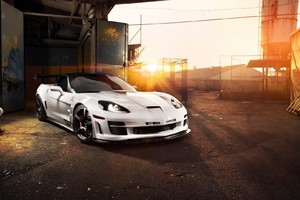 Chevrolet Corvette White Wallpaper