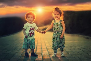 Children Happiness Portrait 5k Wallpaper