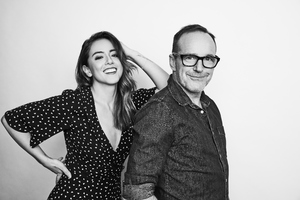 Chloe Bennet And Clark Gregg 8k Monochrome Wallpaper