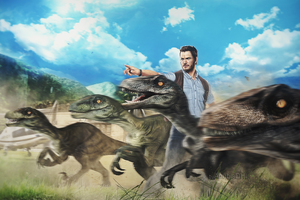 Chris Pratt Raptors Squad Artwork