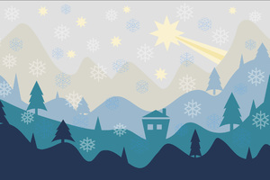 Christmas Flat Design Background Wallpaper