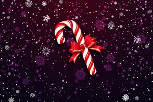 Christmas Lollipop Bowknot Wallpaper