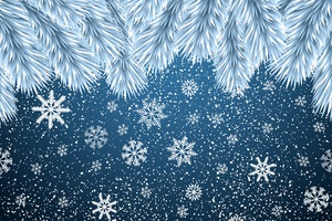 Christmas Snowflakes Background 8k
