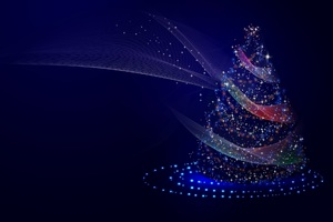 Christmas Tree Illustrations Wallpaper