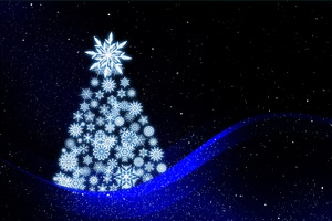 Christmas Tree Lights Illustrations Wallpaper