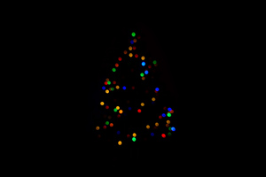 Christmas Tree Minimalism Dark 4k Wallpaper