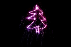Christmas Tree Neon Light Wallpaper