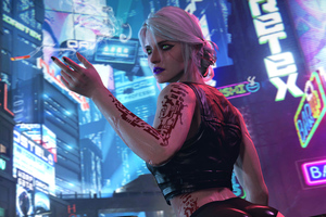 Ciri Cyberpunk 2077 Wallpaper