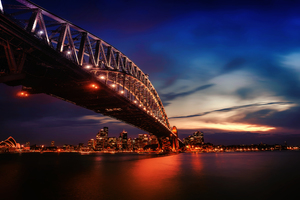 City Lights Sydney Harbour Bridge 4k Wallpaper