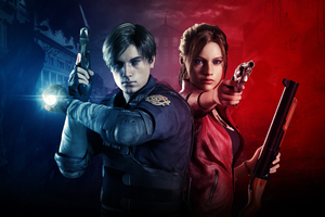 Claire Redfield And Leon Resident Evil 2 8k Wallpaper
