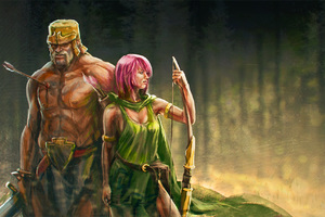 Clash Of Clans Artwork Archer And Barbarian Wallpaper