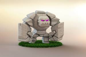 Clash Of Clans Golem 3d