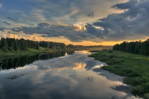 Cloud Landscape Nature Reflection River Wallpaper