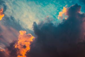 Clouds Orange Dark Sigma Style Sunrsie 5k Wallpaper