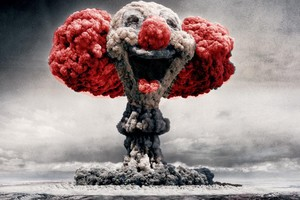 Clown Mushroom Cloud Art