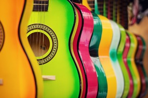 Colorful Guitar Wallpaper