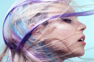 Colorful Hair Girl Wallpaper