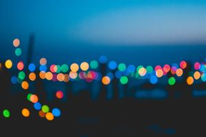 Colorful Night Lights Bokeh Effect Wallpaper