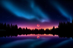 Colorful Night Stars Wallpaper