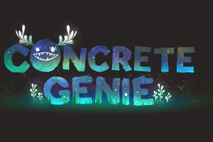 Concrete Genie Logo 5k Wallpaper