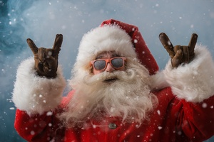 Cool Santa Claus 4k Wallpaper