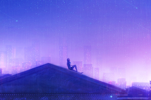 Counting Stars On Roof Top Wallpaper