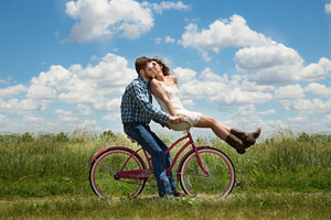 Couple Bike Romantic Wallpaper