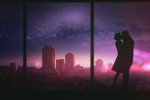 Couple Romantic Kissing Wallpaper