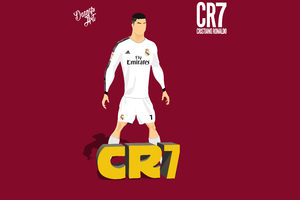 Cristiano Ronaldo Vector Illustration 8k Wallpaper